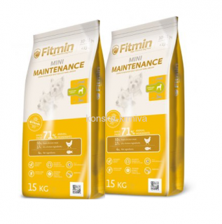 FITMIN DOG MINI MAINTENANCE 15 KG 2x
