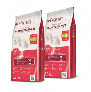 FITMIN DOG MEDIUM MAINTENANCE 15 KG 2x